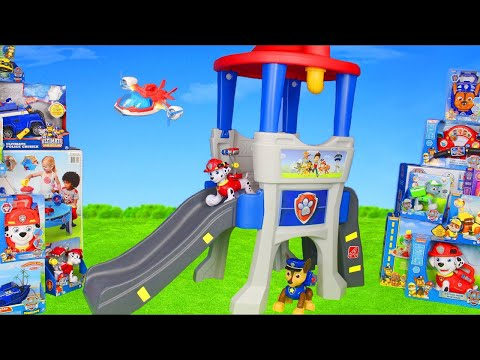 Paw Patrol Unboxing: Lookout Surprise w/ Fireman Marshall  Ryder  Chase  Skye & Rubble Pups for Kids