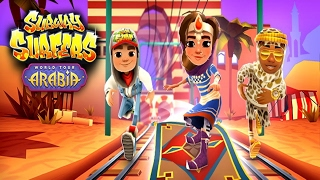 SUBWAY SURFERS ARABIA / AMIRA GENIE JEWEL OUTFIT / JEWELLED OLD DUSTY BOARD Gameplay iOS / Android
