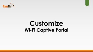 Create Customizable Wi-Fi Captive Portal using Templates and CMS