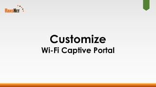 Create Customizable Wi-Fi Captive Portal using Templates and CMS