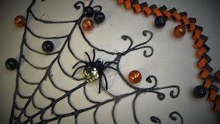 Spiderweb Window Decoration Made With A Glue Gun ~ Featuring Miriam Joy