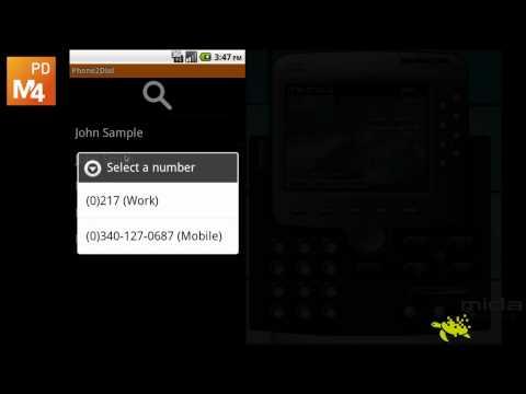 Video of M4PhoneDial