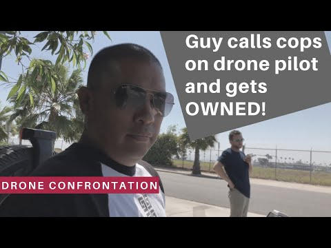 Paranoid neighbor calls the police on drone pilot and gets OWNED when cops show up!