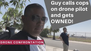 DRONE CONFRONTATION: Cops called on drone pilot in SoCal for just doing his job. Watch what happens!