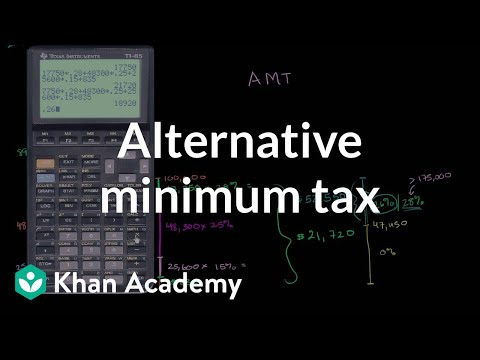 Alternative minimum tax (video) | Taxes | Khan Academy