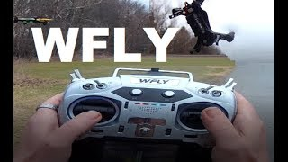 WFLY ET16 MJX BUGS 8 Flight Test TOUCH SCREEN JR BAY JP4in1 Prototype Review Voice Modual