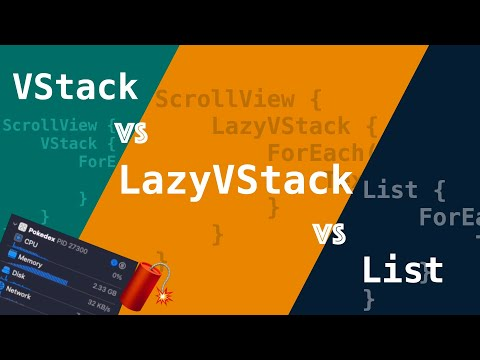 When is good to use LazyVStack vs VStack and List? #SwiftUI thumbnail