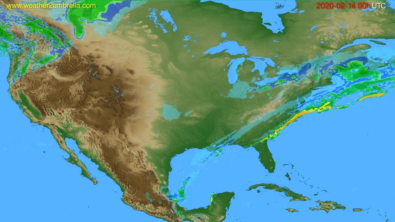 Radar forecast USA & Canada // modelrun: 12h UTC 2020-02-13