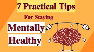 7 Practical Tips For Staying Mentally Healthy || Mental Health Awareness in Hindi - HEALTHY