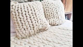 HOW TO HAND KNIT A SQUARE PILLOW
