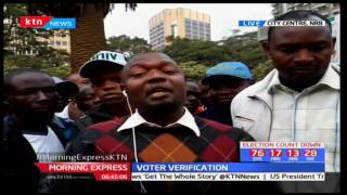 Kenyans react on the ongoing IEBC voter verification process citing malpractice in the process