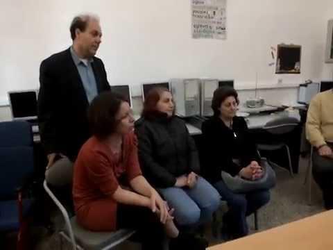 Η Αλέκα Παπαρήγα στο Ειδικό Σχολείο Περατάτων [video]