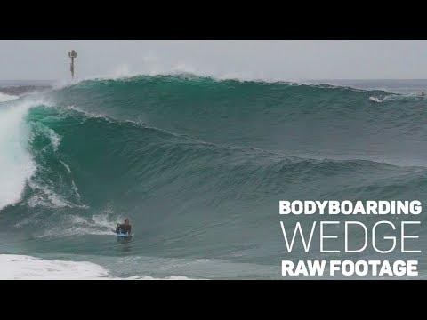 Bodyboarding WEDGE - August 17 - RAW FOOTAGE (Tanner McDaniel, Craig Whetter)