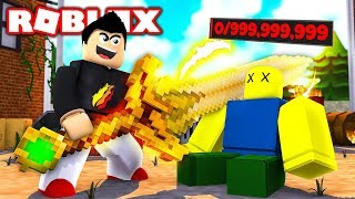 ROBLOX NOOB vs THE MOST OVERPOWERED WEAPON! (Roblox Weapon Simulator)