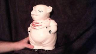 SOLD: Original 1942 Shawnee Smiley Pig Cookie Jar Vintage Pottery Cold Paint