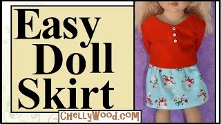 Free Doll Clothes Patterns: Basic 18 Inch Doll Skirt