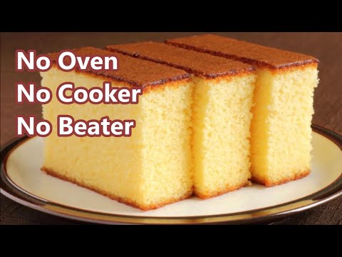Easy Vanilla Sponge Cake Without Oven Recipe