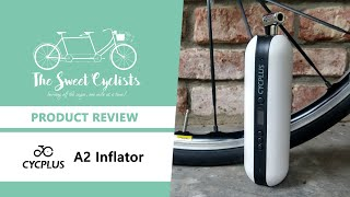 Tire inflation made easy? CYCPLUS A2 Electric Air Inflator Review - feat. 150 PSI + Powerbank
