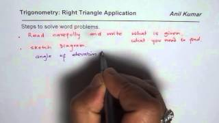 Steps To Solve Right Triangle Trigonometry Application DEfining Angle Of Elevation And Depression