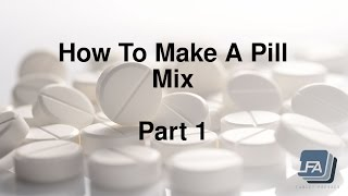 How to make a Tablet Pill mix for a Press 1