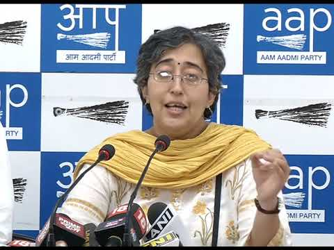 AAP Leader Atishi Marlena Briefs media on Security on Women & Installation of CCTV Camera's