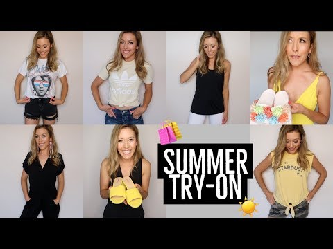 SHOP WITH ME TRY-ON HAUL! 🛍 | SUMMER 2018 ☀️| Brianna K