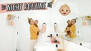 OUR NIGHT ROUTINE WITH A BABY!!