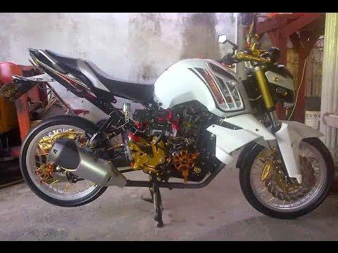 Video Cah Gagah   Video Modifikasi Motor Yamaha Byson Velg Jari-jari Keren Terbaru