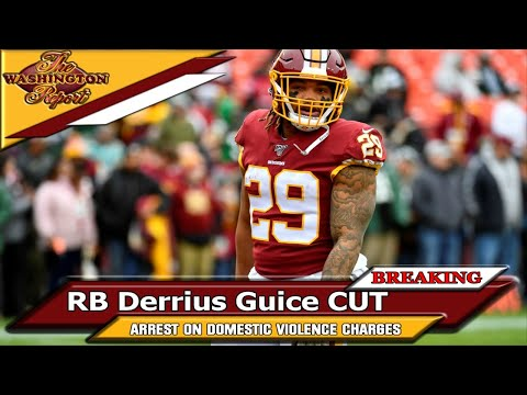 The Washington 🏈 Report LIVE! | RB Derrius Guice ARRESTED on Domestic Violence Charges AND CUT✂😵