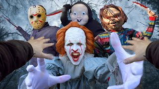Horror Villains VS Parkour POV (Michael Myers, Chucky, Jason Voorhees, Pennywise...)