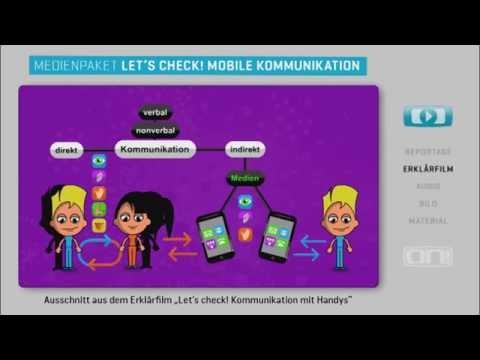 """Vorschau Erklärfilm """"Let's check! Kommunikation mit Handys"""""""