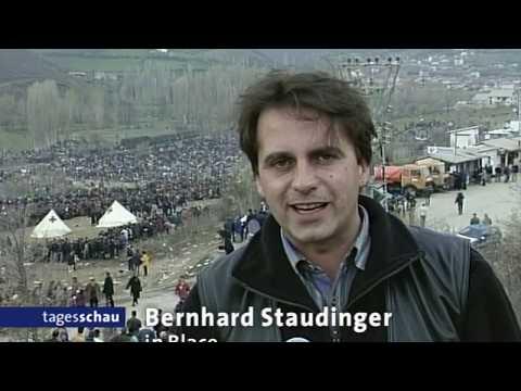 02.04.1999 Tagesschau vor 20 Jahren : NATO - Krieg, Flucht aus Kosovo / Albanien