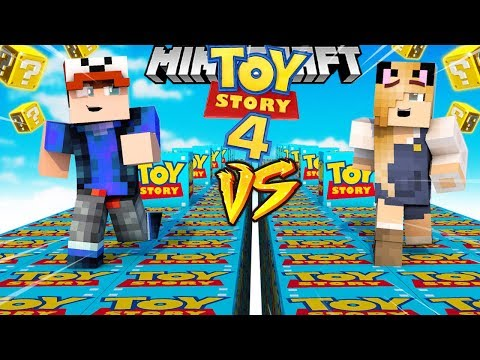 SZALONY WYŚCIG! - TOY STORY 4 LUCKY BLOCKI MINECRAFT! (Lucky Block Race) | Vito vs Bella