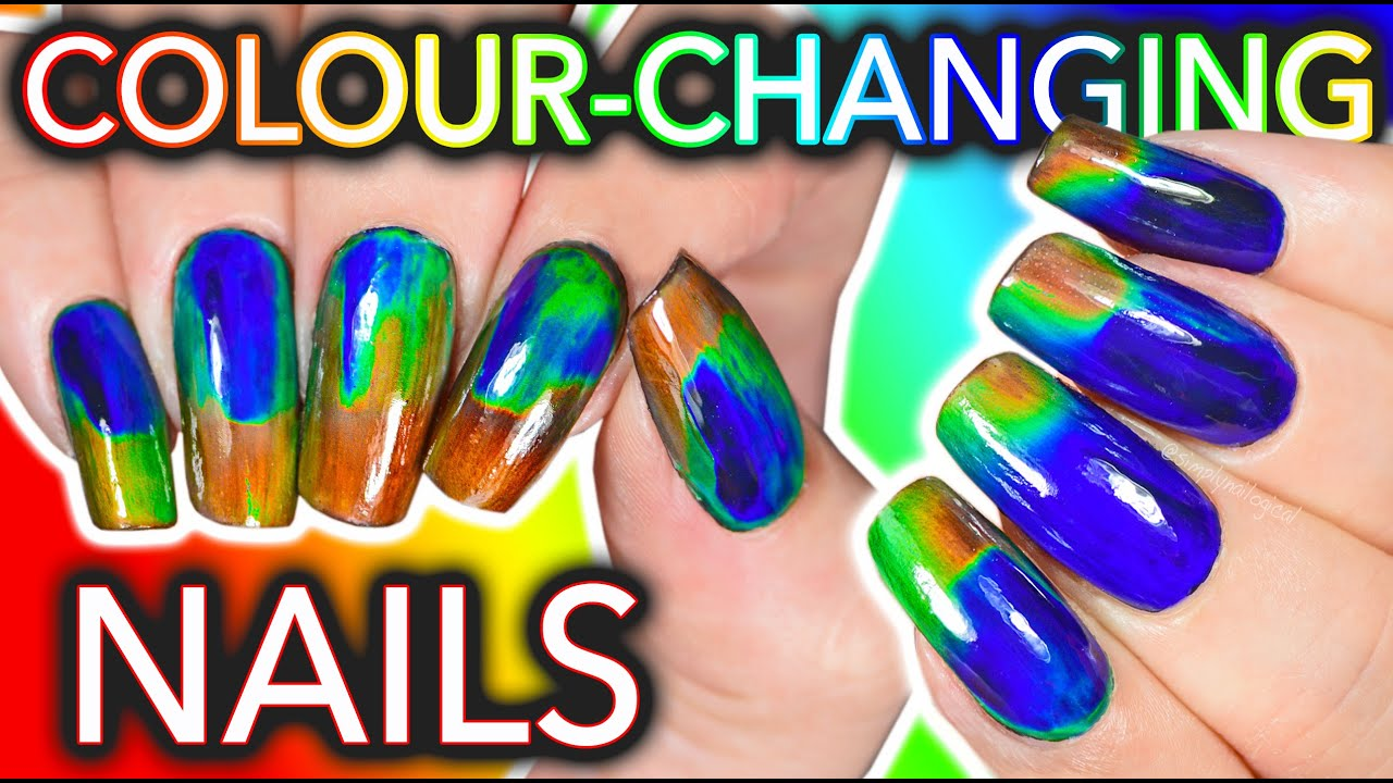 DIY Colour-Changing Nails with LCD screen ingredients?!? WILL I DIE?? thumbnail