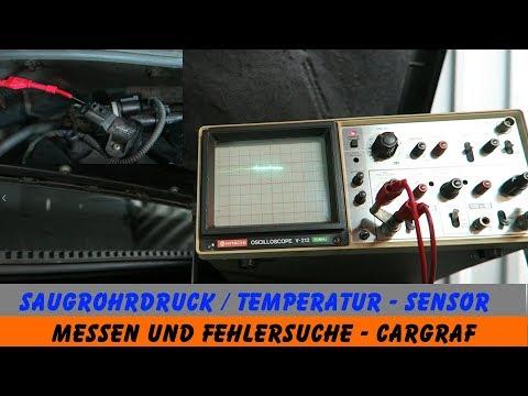 Saugrohrdruck / Saugrohrtemperatur Sensor prüfen - Oszilloskop