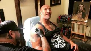 The Rock Removes The Brahma Bull Tattoo