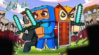 Village Raid and Vanoss' Very Unsafe Treehouse! -Minecraft