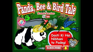 Panda, Bee and The Bird Tale A Short Film for Kids #Short #Story #Film #Learn #Jungle #Monkey #Baby