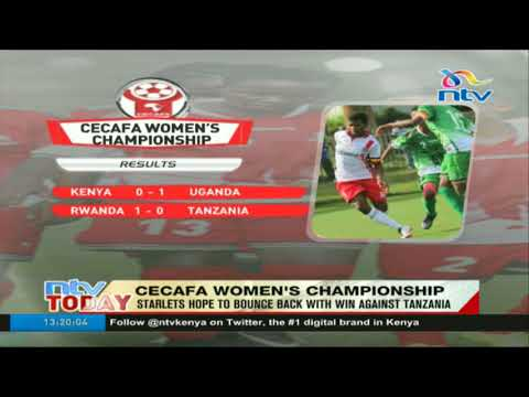 CECAFA women's championships: Starlets hope to bounce back with win against Tanzania