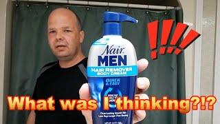 Nair For Men Experiment & Review