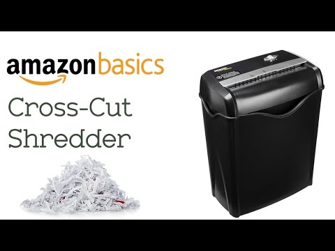 Amazon Basics 5-6 Sheet Cross-Cut Shredder