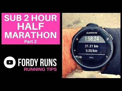 Sub 2 Hour HALF MARATHON Pace - YouTube