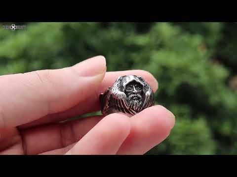 North Mythology Viking Wolf Ring / Stainless Steel Scandinavian Jewelry