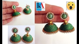 Unique DIY : How to make Reuse piping thread earrings at home    latest model earrings design