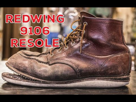 resoling a pair of red wing boots