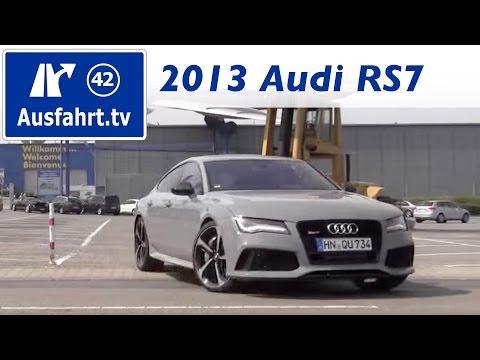 2013 Audi RS7 - Fahrbericht der Probefahrt / Test