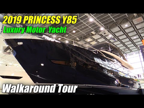 2019 Princess Y85 Luxury Yacht - Walkaround - 2019 Boot Dusseldorf
