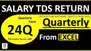 salary tds return 24q filing procedure - quarterly tds return for salary: 24q