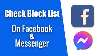 How to Check Your Block List on Facebook & messenger . 2020