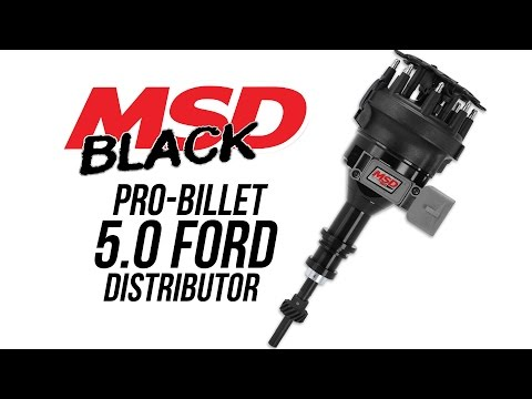 MSD Black Ford 5.0 Pro-Billet Distributor